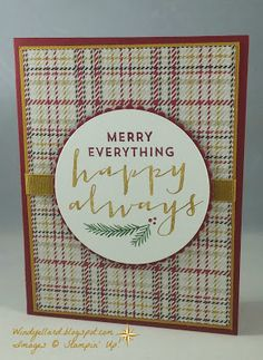 Windy's Wonderful Creations: Merry Monday #218 Happy Always!, Stampin' Up!, Warmth & Cheer DSP, Suite Seasons