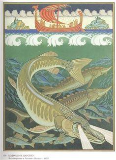 Pike, by Ivan Bilibin russian folklore illustration early C. Ivan Bilibin, Some Beautiful Images, Academic Art, Digital Museum, Commercial Art, Art Database, Design Graphique, Russian Art, Art And Illustration