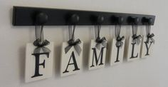 Family hanging letters