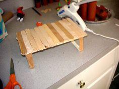 Make a Barbie Farmhouse table lol