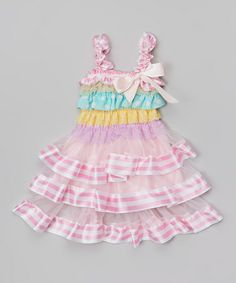 Look what I found on #zulily! Pastel Ruffle Tank Dress - Toddler& Girls by So Girly & Twirly #zulilyfinds