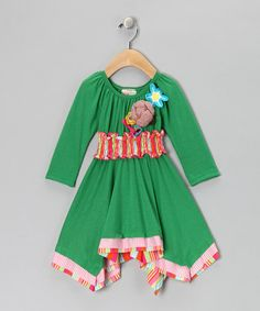 Take a look at this Green & Brown Handkerchief Dress - Infant by Twirls & Twigs on #zulily today!