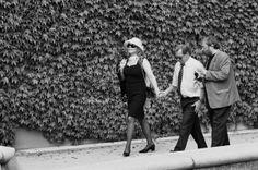 Dagmar and Vaclav Havel on a walk, 1997 Fot.