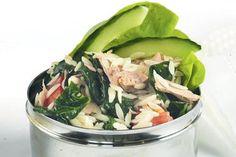 Tuna, tomato, spinach, cucumber and orzo salad – Recipes – Bite