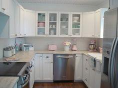 light & airy white kitchen