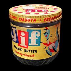 Vintage Jars, Retro Vintage, Vintage Food, Vintage Packaging, Packaging Design, Jif Peanut Butter, Thanks For The Memories, My Childhood Memories, Useful Life Hacks
