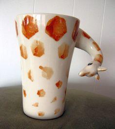 Giraffe Coffee Mug by Sherwood Brands - Very Unusual - Mugs https://www.pinterest.com/lahana/mugs-cups-and-drinkware/