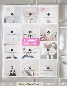 Project LIFE idea: this is a great idea for capturing the things you did for your Summer Manifesto.
