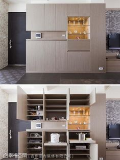 Kitchen Organisation, New Home Designs, Tv Unit, Living Room Designs, New Homes, House Design, Cabinet, Interior Design, Outdoor Decor