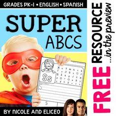 Superhero Alphabet Practice