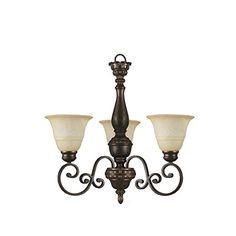 Hampton Bay Carina 3-Light Chandelier Aged Bronze -- For more information, visit image link.