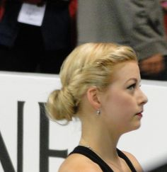 "Skate America Thursday's practice ice, Gracie Gold listening to coach Frank..... ""  Photo by Cheryl Sohn, Sk8 Gr8 Designs"