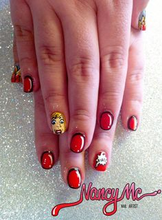 comic book nails!