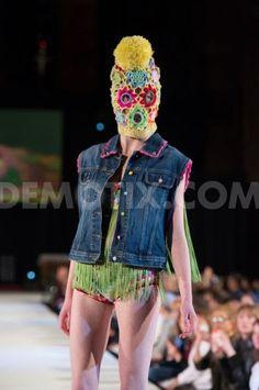 Katie Jones showcases colourful knitwear at Brighton Fashion Week