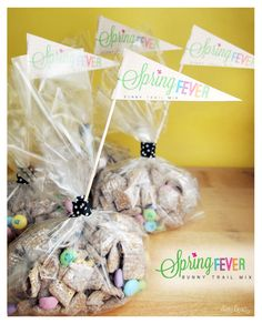 recipe: Spring Fever Bunny Trail Mix with downloadable flag template