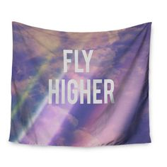 "East Urban Home Fly Higher by Rachel Burbee Wall Tapestry Size: 50"" H x 60"" W"