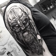 Viking! Thank you Nikolaj . @wickedworkshoptattoo #electricink Mais