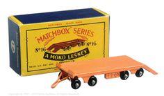 The South West Matchbox Collection | Regular Wheels | Vectis Toy Auctions Matchbox Regular Wheels No.16B Super Atlantic Low Loader Trailer