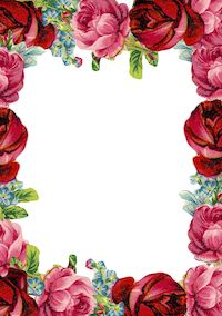 Free digital vintage rose frame and border png - Rosenrahmen - freebie | MeinLilaPark – DIY printables and downloads