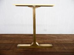 "28"" BESIK - Single Bar Table Legs, Brass, 24"" Width Base,height 26"" - 32"" Set(2) Antique Brass Legs made by Balasagun"