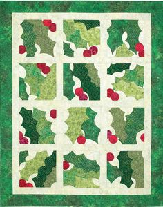 Holly Christmas quilt....how fitting! :-)