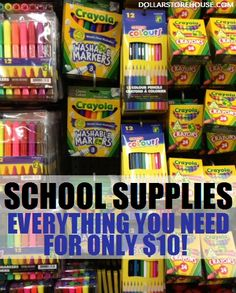 Back to School List - Everything You Need for Only $10