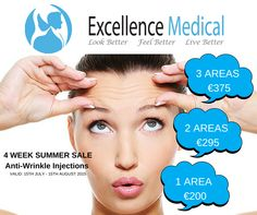 Anti Wrinkle Injections, Cosmetic Clinic, Neck Lift, Dermal Fillers, Summer Special, Dublin, Promotion, Medical, Wellness