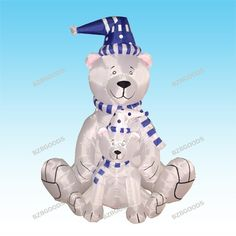 $99.99-$89.00 6 Foot Christmas Inflatable 2 Polar Bears with Blue Scarf Blow up Yard Decoration - BLACK FRIDAY SPECIAL! Please Check Out Our Other BZBGOODS Halloween and Christmas Decorations! Get Them before They are Out of Stock for the Holiday! This is the best gift or decoration to take family holiday photos with. This Inflatable Polar Bears is a must-have to complete your Christmas. With se ...