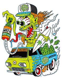 Company/Band Collabs, Branding, & Logo Design on Behance Car Drawings, Cartoon Drawings, Arte Bob Marley, Desenho New School, Ed Roth Art, Cartoon Rat, Arte Dope, Stoner Art, Psychedelic Art