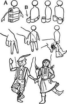 Pirouette, Pietre, Hilda Hand Puppets
