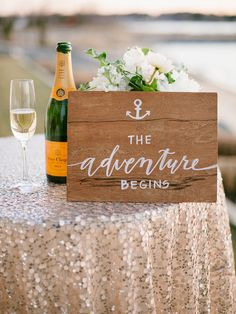 Such a sweet wedding sign to add to your reception decor! | Natalie Franke Photography