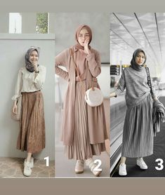 Personal I like the do you like? Personal I like the 1 Seseneng itu dapet rok putih plisket yg pas dipake dibadan 😭😭, maacihhh @ 😍😘 リネンキャミワンピース / GREY Modern Hijab Fashion, Street Hijab Fashion, Hijab Fashion Inspiration, Muslim Fashion, Modest Fashion, Look Fashion, Skirt Fashion, Fashion Outfits, Indie Fashion