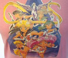 90s Sailor Moon T Shirt // Vintage Cartoon // by TrueValueVintage