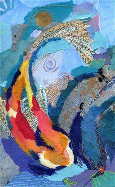Koi - Torn Paper Painting - Cloth Paper Scissors