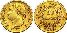 20 francs or Napoléon à la tête laurée, Empire français,1813,Bordeaux - Napoléon Ier — Wikipédia