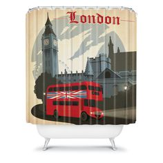 Anderson Design Group London Shower Curtain>> bathroom MUST HAVE.
