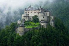 """authorjordanlink: """" Source: We Live In A Beautiful World """" Medieval, Hohenwerfen Castle, Salzburg, Austria Beautiful Castles, Beautiful Buildings, Beautiful Places, Chateau Medieval, Medieval Castle, Castle In The Sky, Hohenwerfen Castle, Photo Chateau, Hallstatt"""