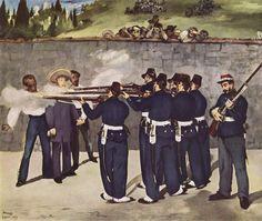 Ejecución de Maximiliano, 1867, Cerro de las campanas, Querétaro, México. Pintado por Eduard Manet.