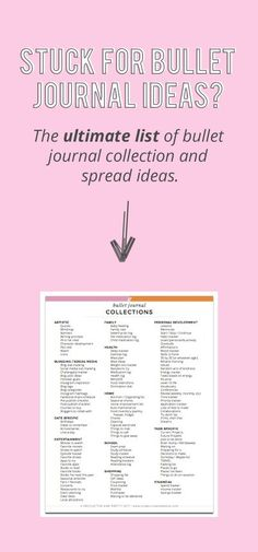Stuck for Bullet Journal ideas? Grab the ultimate list of bullet journal collection and bullet journal spread ideas!! [So good!!] #bulletjournal #bujo