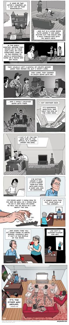 STEPHEN KING: The desk (Zen Pencils) - Democratic Underground