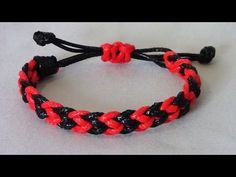 Pulsera Kumihimo Hira Kara Flat Braid 8 strands (3) - YouTube