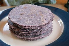 Blue Corn Tortillas:  I love the color and flavor that Blue Corn Tortillas bring to my pure food dishes.  They have a unique hearty texture, more protein than regular corn tortillas and are naturally gluten free. Delicious for enchiladas, tacos or just as they are hot off the grill.