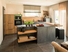 Die 14 besten Bilder auf Küche holz modern | Home kitchens, Kitchen ...