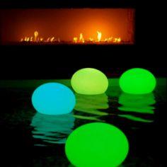 Glow sticks + balloons= floating lanterns.