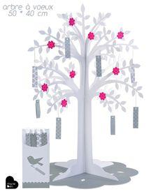 Arbre à voeux - centre de table - Arbre à voeux - anniversaire - mariage - décoration - livre d'or
