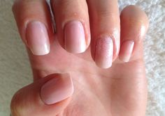 Pearly pink with some hologram glitter on the ring finger. Great for brides or bridesmaids, or just to be a little girly!