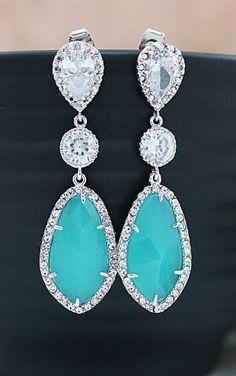 Wedding Jewelry Bridesmaids Gift Bridal Earrings