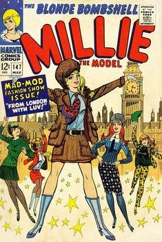 """The cover artwork for the comic book """"Millie the Model"""""""