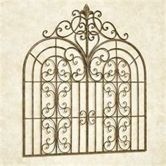 Resembling a majestic entryway into a realm unknown, the Beyond the Gates Wall Grille provides a fantastical, traditional touch inside or outside your home. Outdoor Wall Art, Outdoor Walls, Indoor Outdoor, Metal Flower Wall Art, Metal Wall Decor, Wrought Iron Decor, Wrought Iron Gates, Tuscan Decorating, French Country Decorating