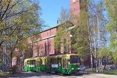 Trams of Helsinki, Paavali Curch stop, little bit newer generation.